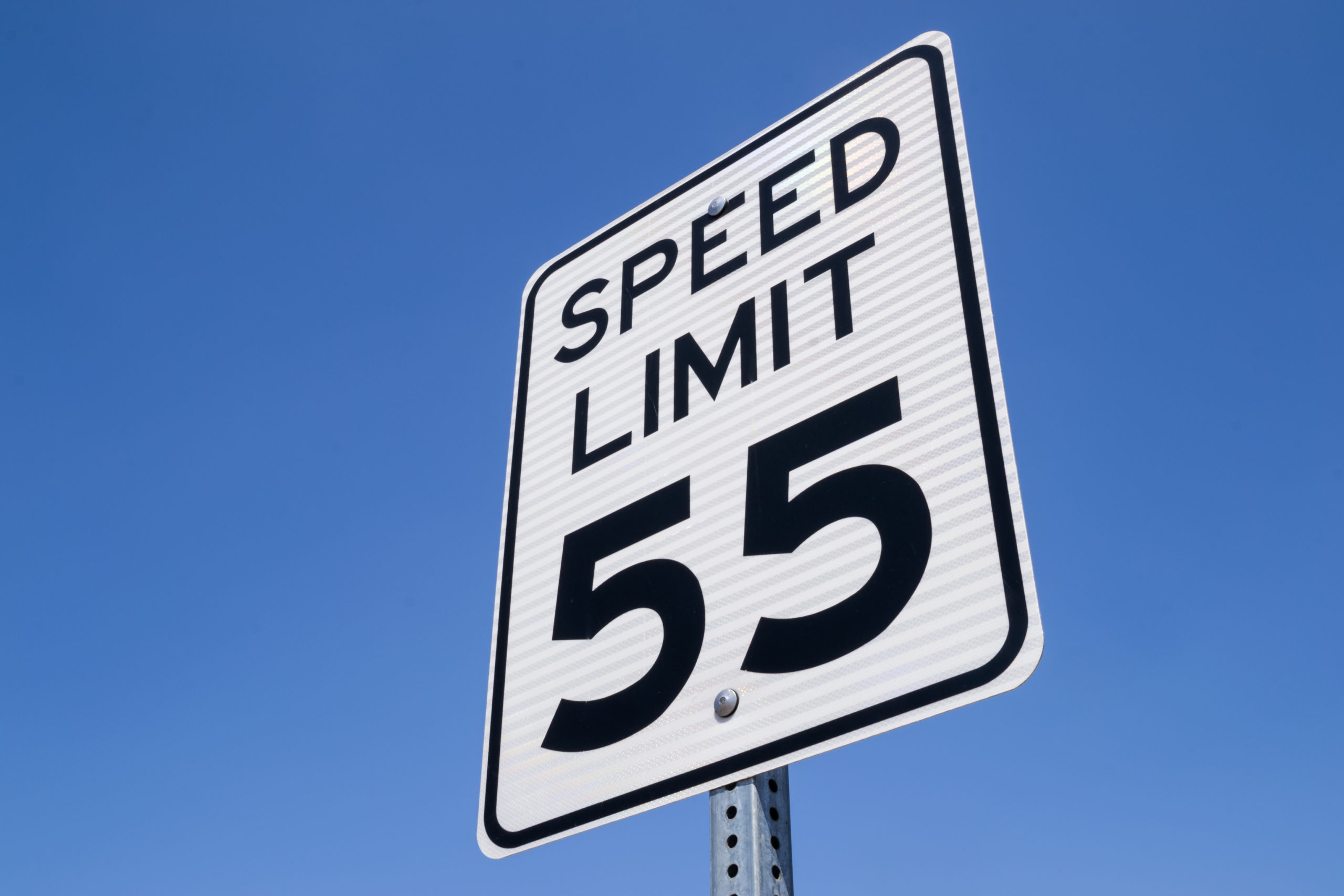 55 speed limit sign